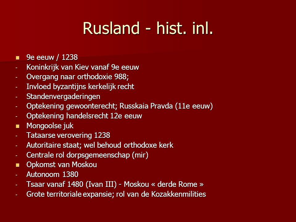 Rusland - hist. inl. 9e eeuw / 1238 Koninkrijk van Kiev vanaf 9e eeuw