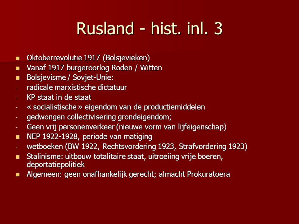 Rusland - hist. inl. 3 Oktoberrevolutie 1917 (Bolsjevieken)