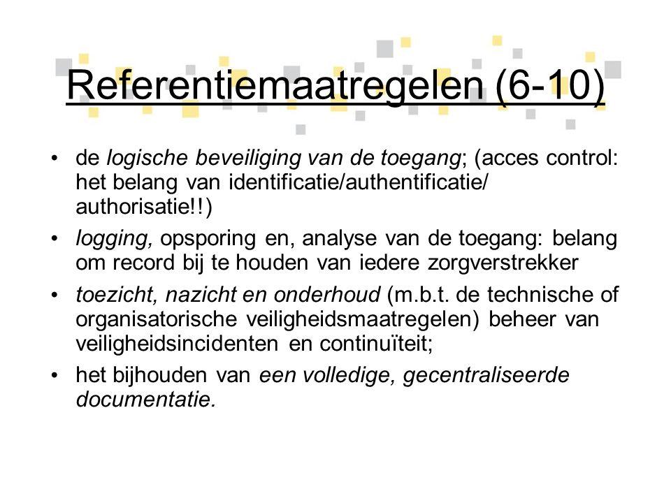 Referentiemaatregelen (6-10)