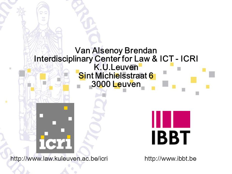 Interdisciplinary Center for Law & ICT - ICRI