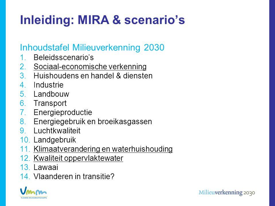 Inleiding: MIRA & scenario's