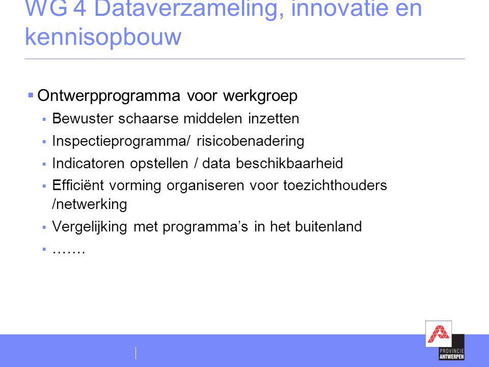WG 4 Dataverzameling, innovatie en kennisopbouw