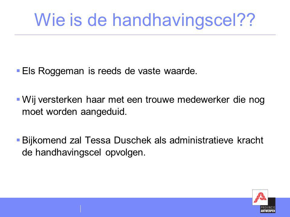 Wie is de handhavingscel