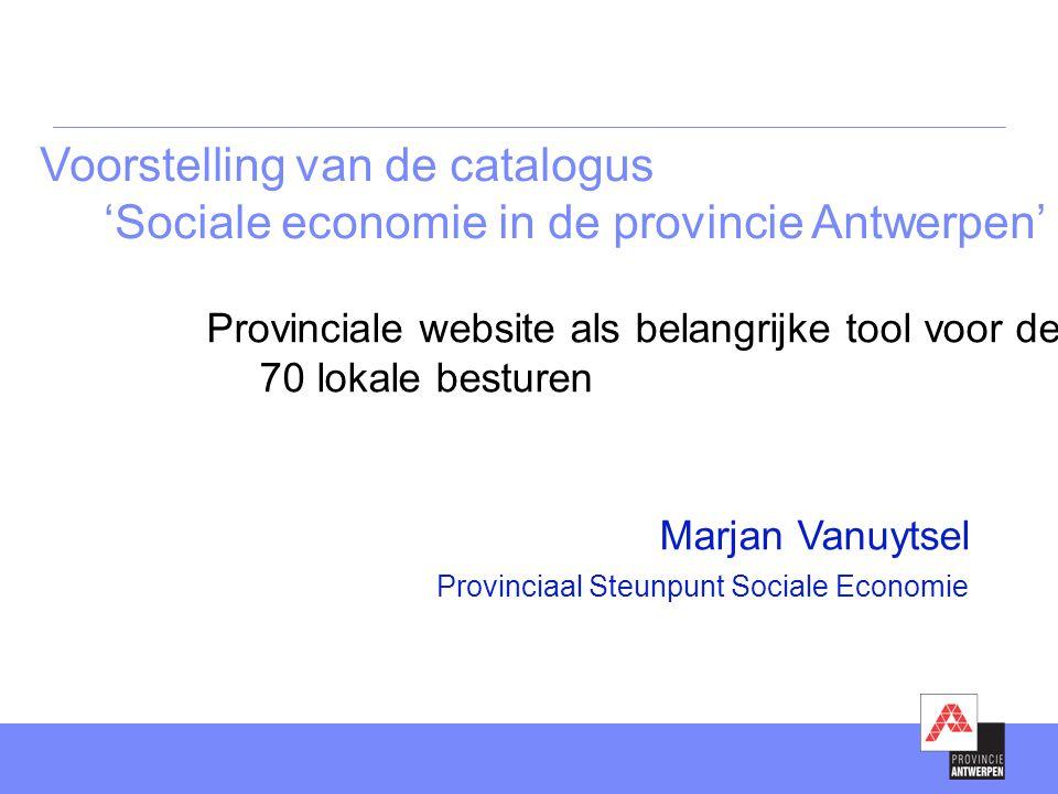 Voorstelling van de catalogus