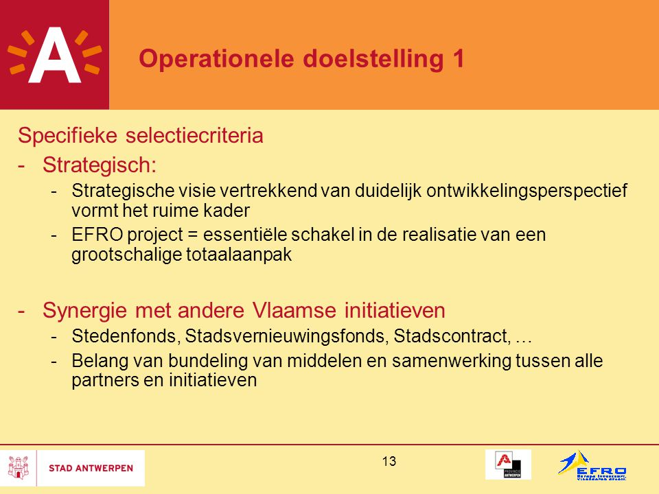 Operationele doelstelling 1