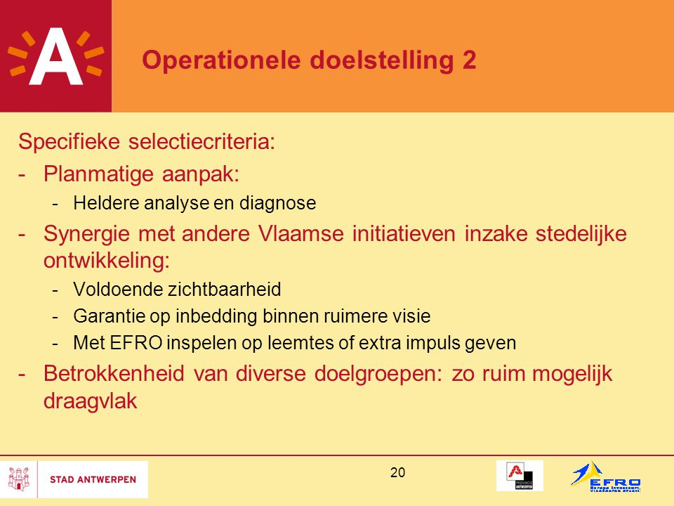 Operationele doelstelling 2