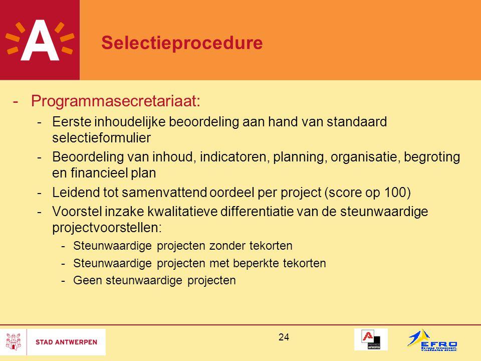 Selectieprocedure Programmasecretariaat: