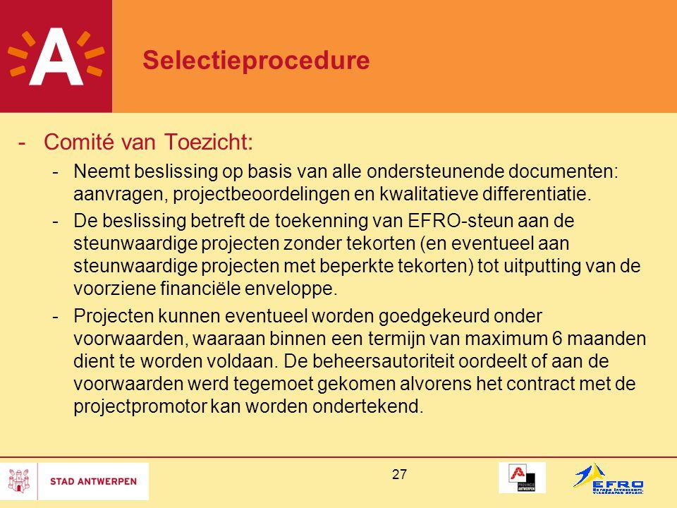 Selectieprocedure Comité van Toezicht: