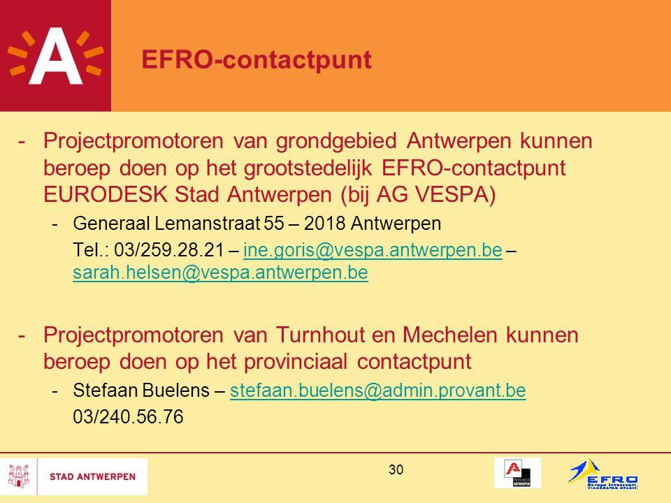 EFRO-contactpunt