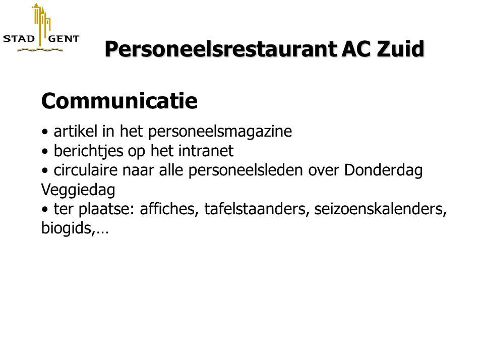 Personeelsrestaurant AC Zuid Communicatie
