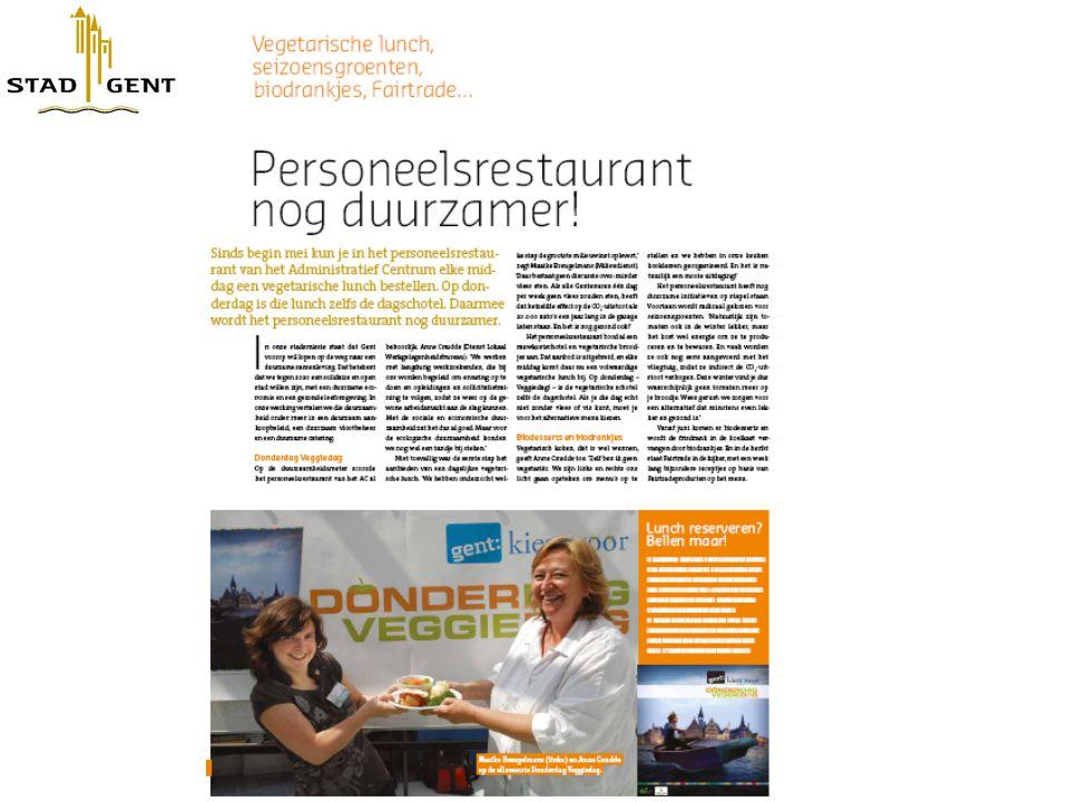 Artikel in personeelsmagazine Stad Gent