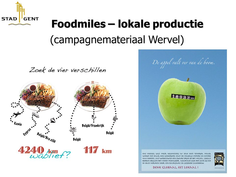 Foodmiles – lokale productie (campagnemateriaal Wervel)