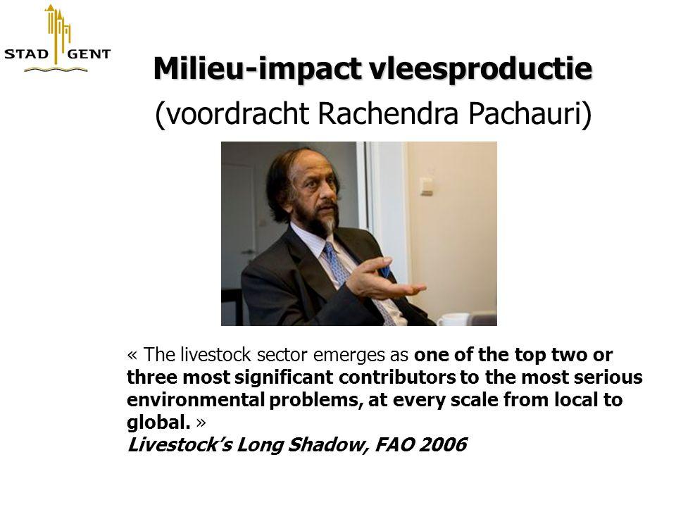 Milieu-impact vleesproductie (voordracht Rachendra Pachauri)