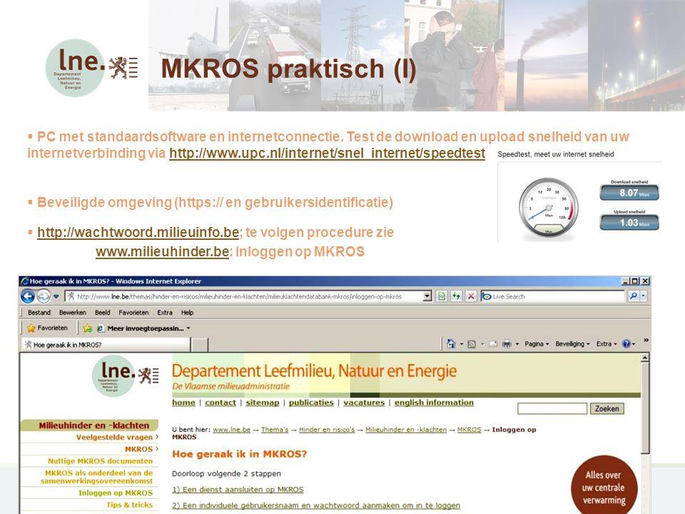 MKROS praktisch (I)