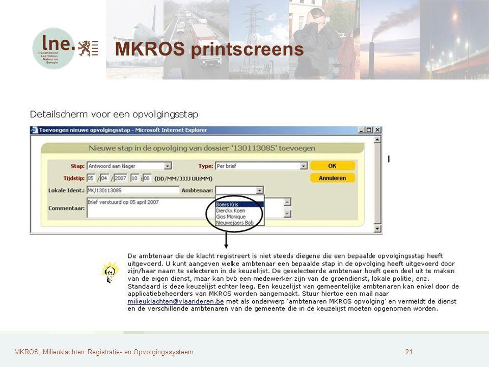 MKROS printscreens