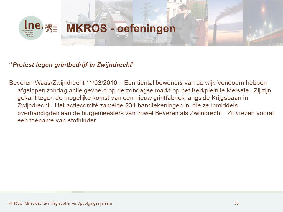 MKROS - oefeningen Protest tegen grintbedrijf in Zwijndrecht
