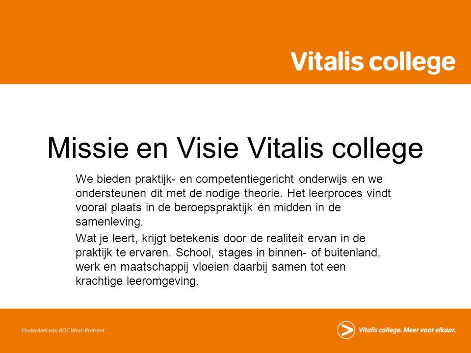 Missie en Visie Vitalis college