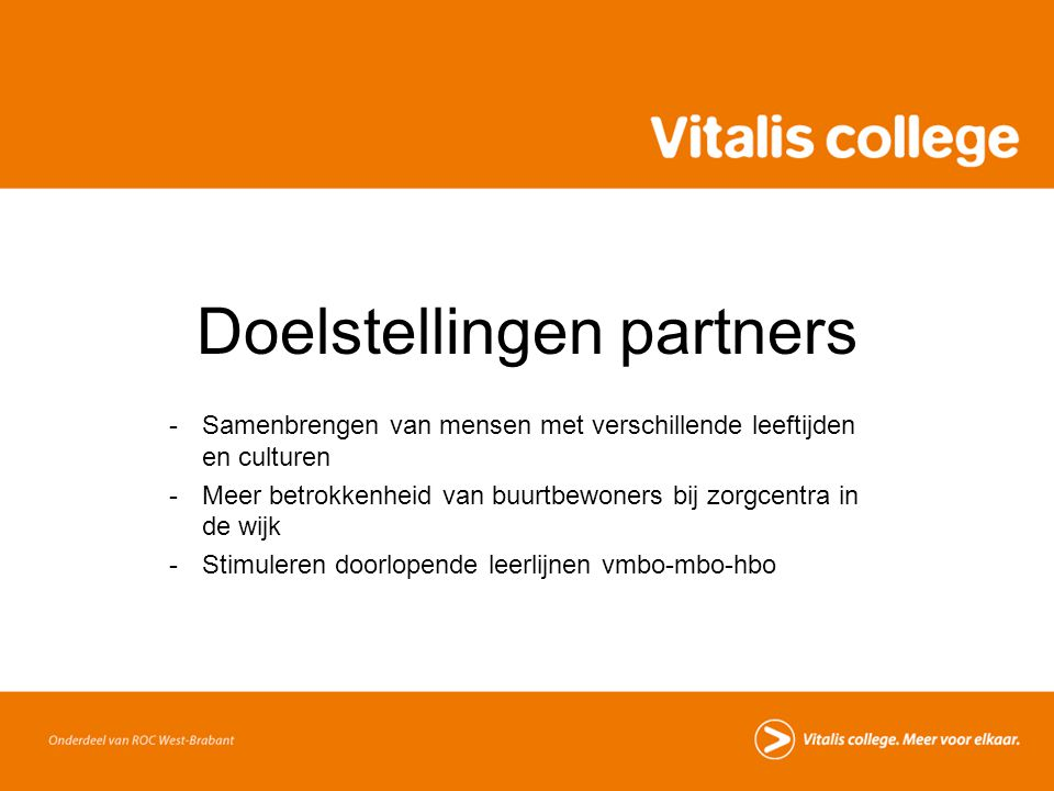 Doelstellingen partners