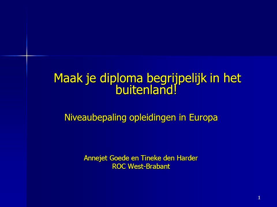 Maak je diploma begrijpelijk in het buitenland!