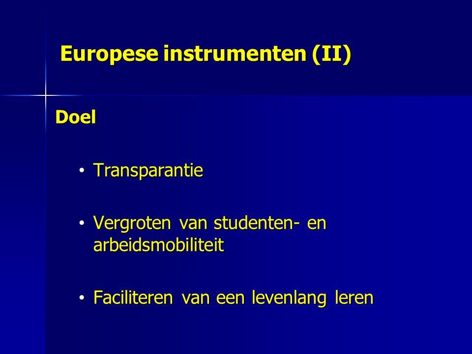 Europese instrumenten (II)
