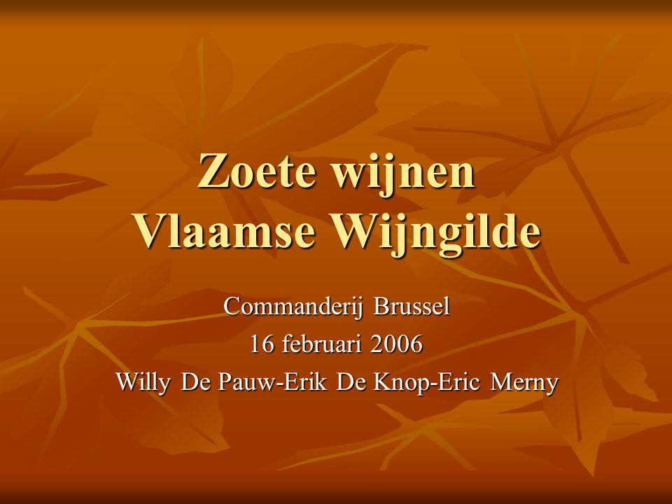 Zoete wijnen Vlaamse Wijngilde