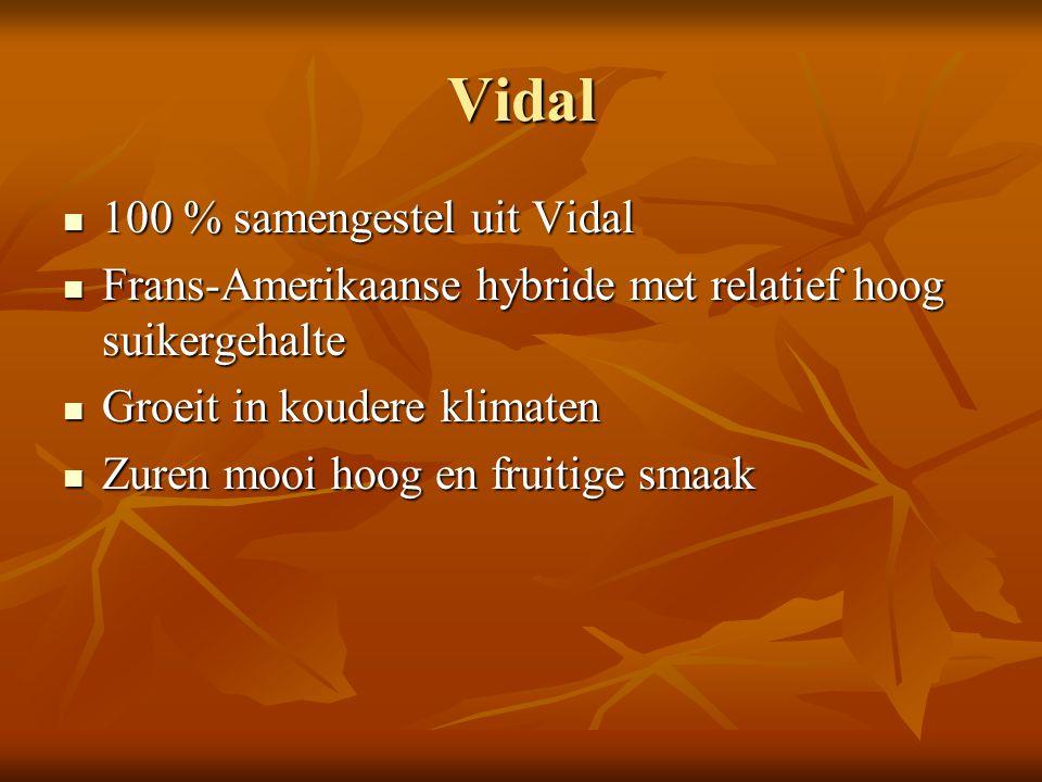 Vidal 100 % samengestel uit Vidal