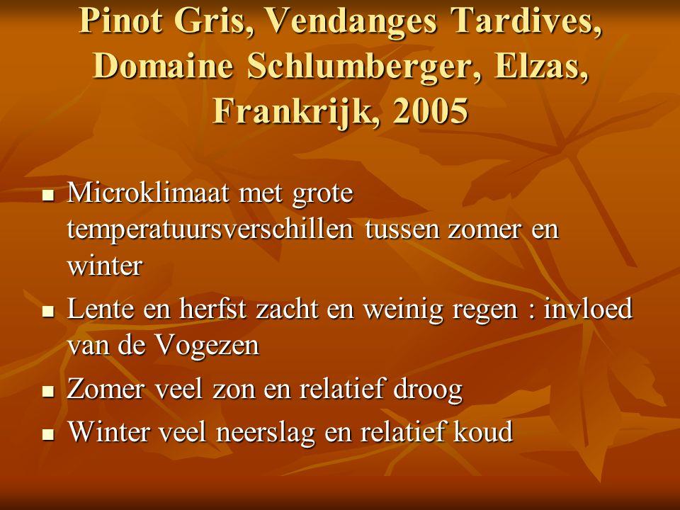 Pinot Gris, Vendanges Tardives, Domaine Schlumberger, Elzas, Frankrijk, 2005