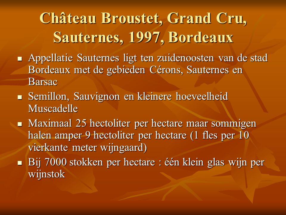Château Broustet, Grand Cru, Sauternes, 1997, Bordeaux