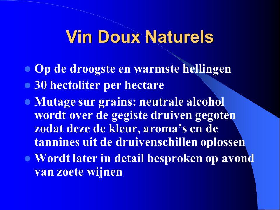 Vin Doux Naturels Op de droogste en warmste hellingen
