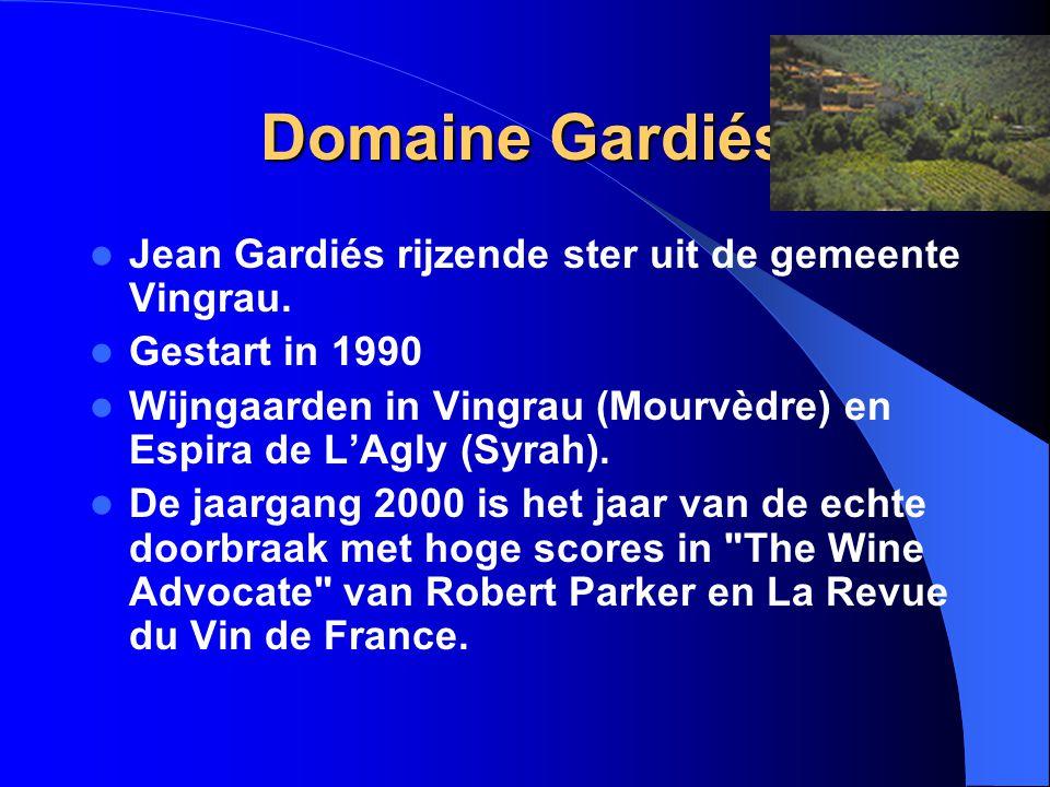 Domaine Gardiés Jean Gardiés rijzende ster uit de gemeente Vingrau.