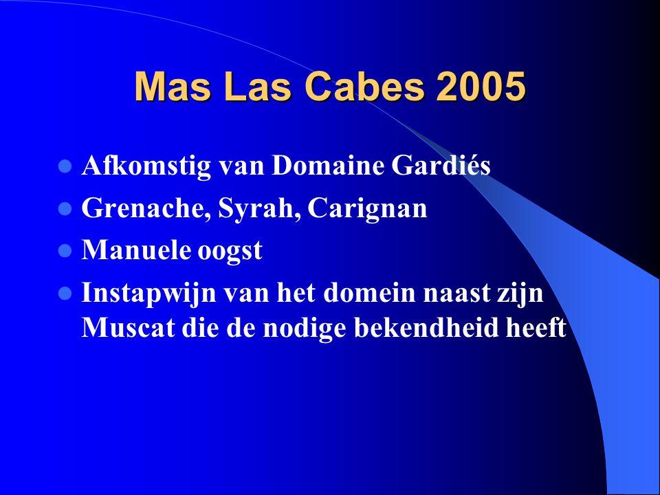 Mas Las Cabes 2005 Afkomstig van Domaine Gardiés