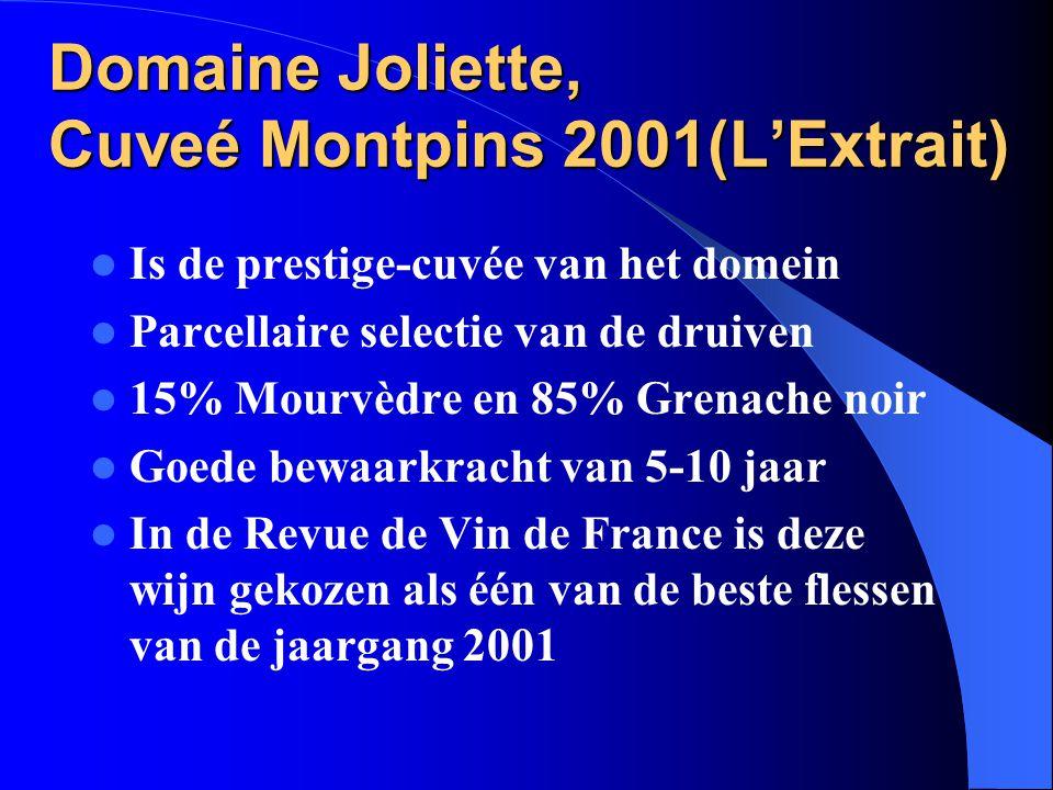 Domaine Joliette, Cuveé Montpins 2001(L'Extrait)