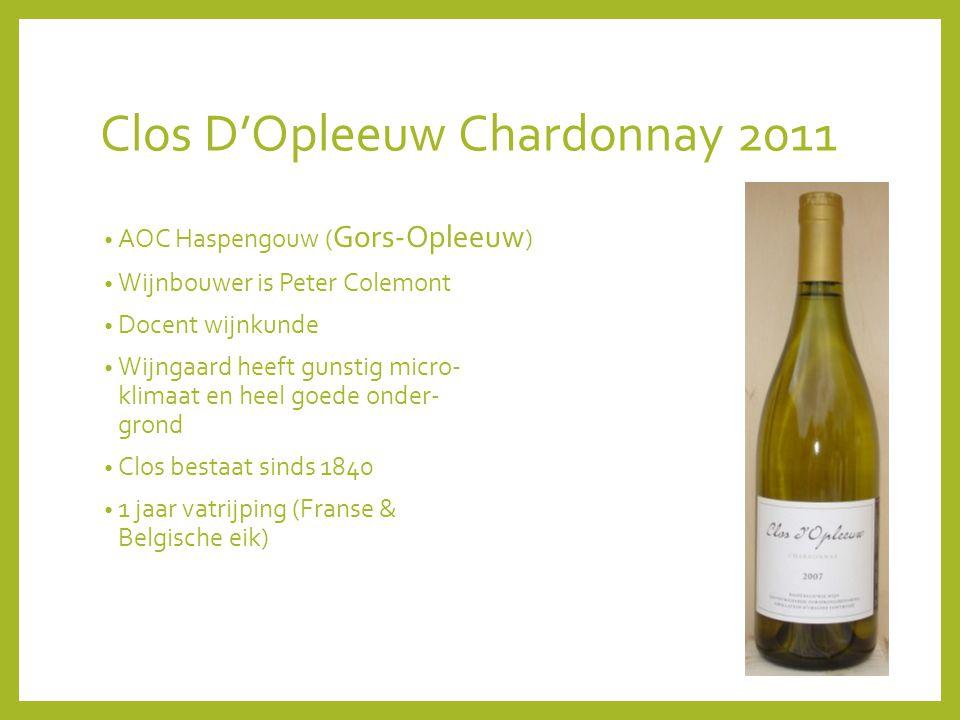 Clos D'Opleeuw Chardonnay 2011