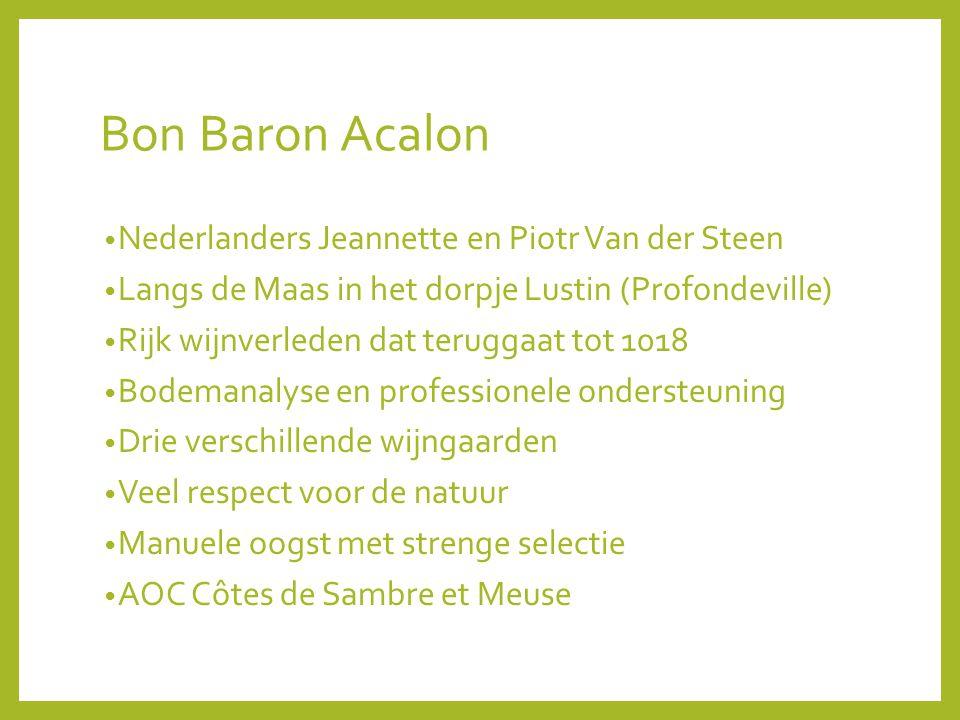 Bon Baron Acalon Nederlanders Jeannette en Piotr Van der Steen
