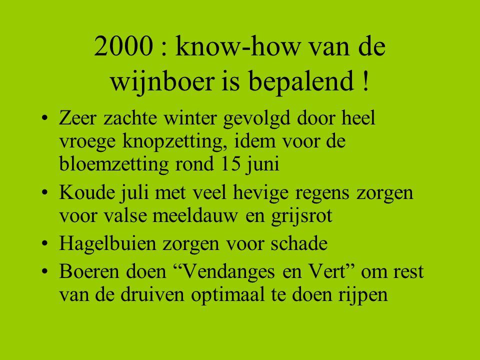2000 : know-how van de wijnboer is bepalend !
