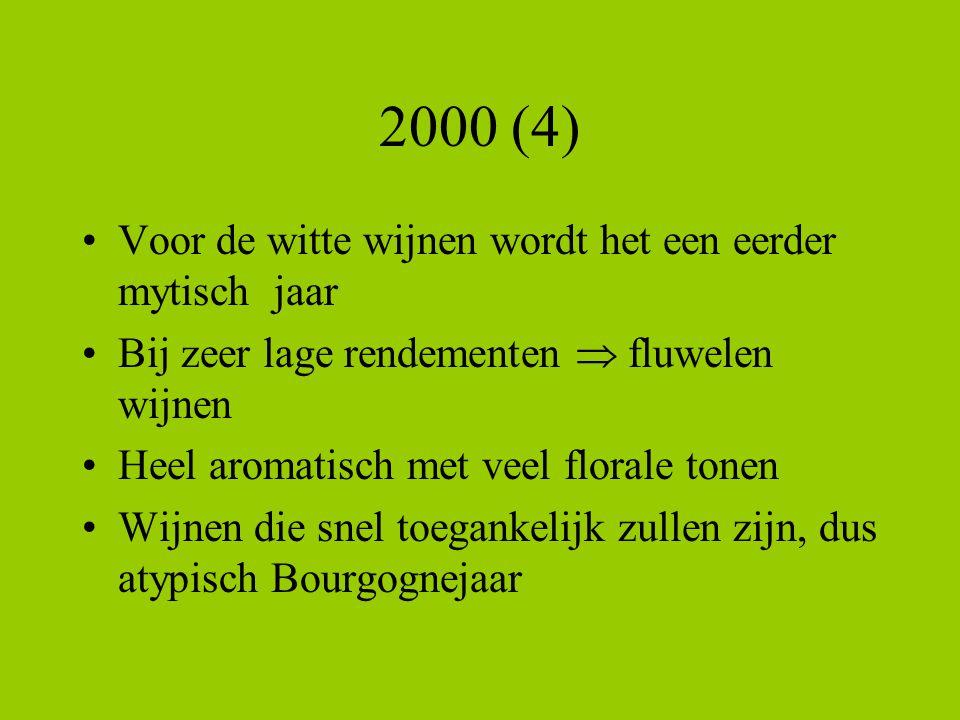 2000 (4) Voor de witte wijnen wordt het een eerder mytisch jaar