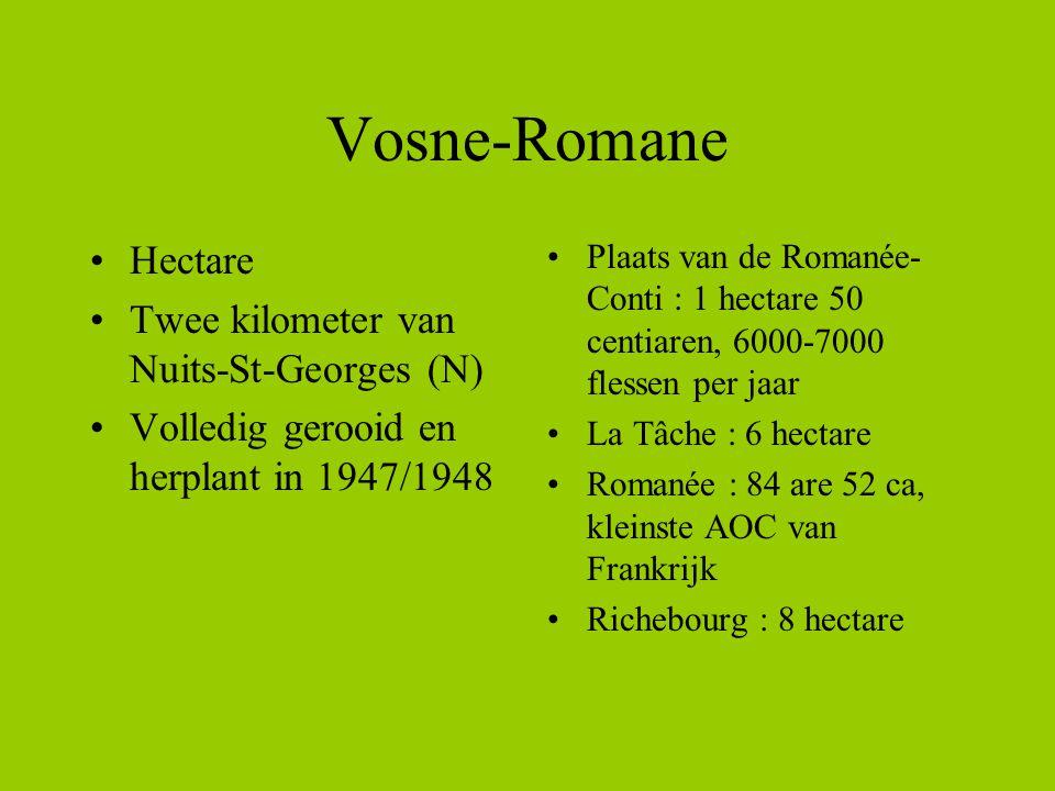 Vosne-Romane Hectare Twee kilometer van Nuits-St-Georges (N)