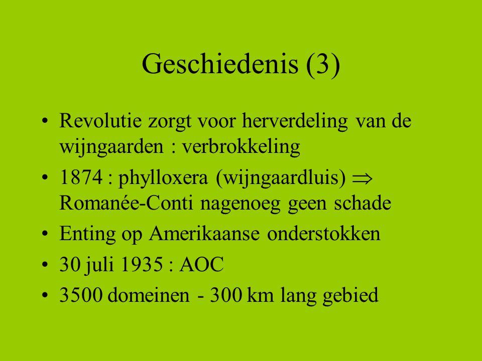 Geschiedenis (3) Revolutie zorgt voor herverdeling van de wijngaarden : verbrokkeling.