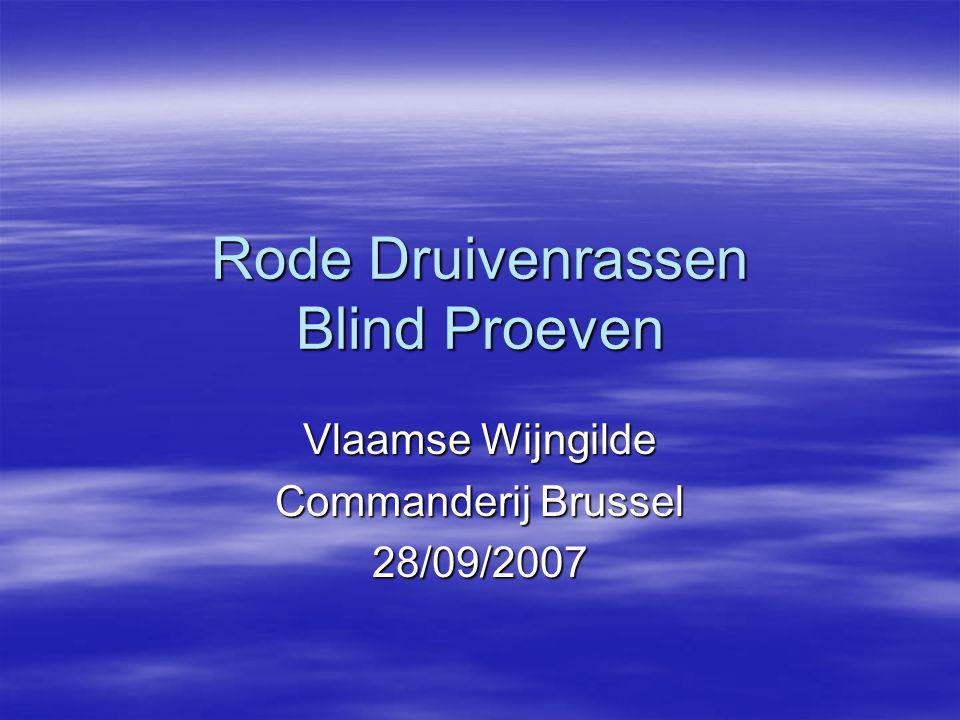 Rode Druivenrassen Blind Proeven