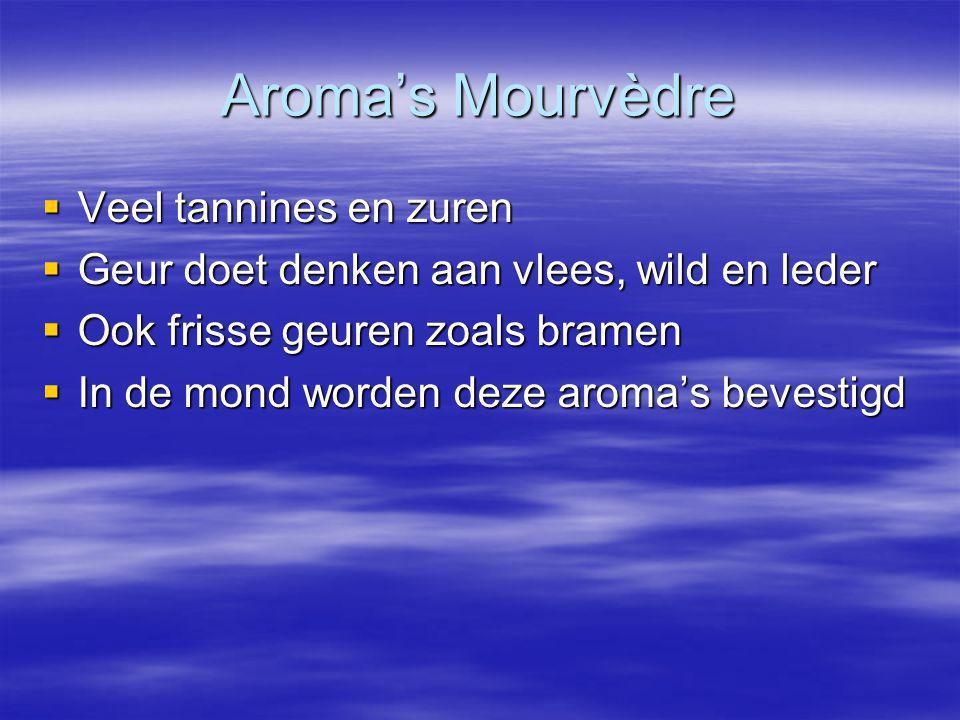 Aroma's Mourvèdre Veel tannines en zuren