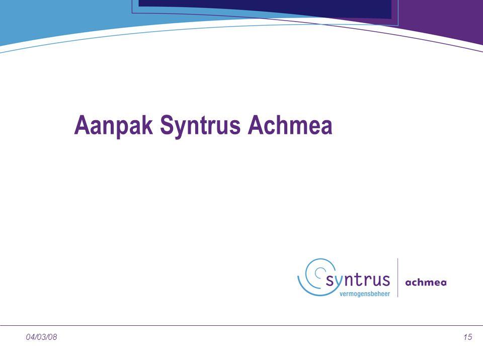 Aanpak Syntrus Achmea 04/03/08