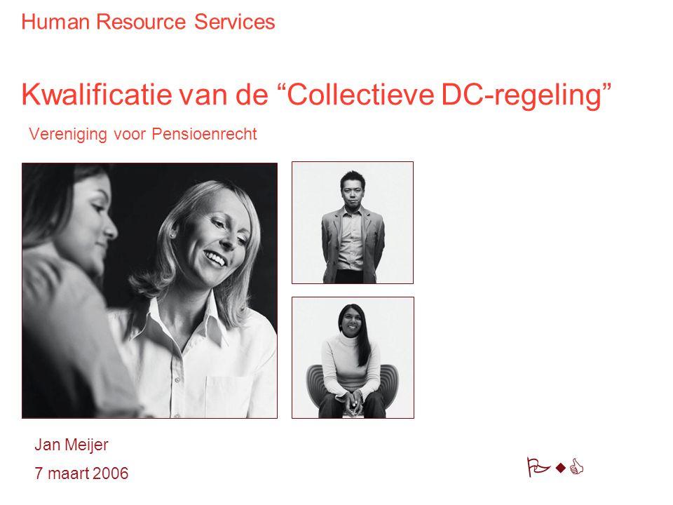 Kwalificatie van de Collectieve DC-regeling