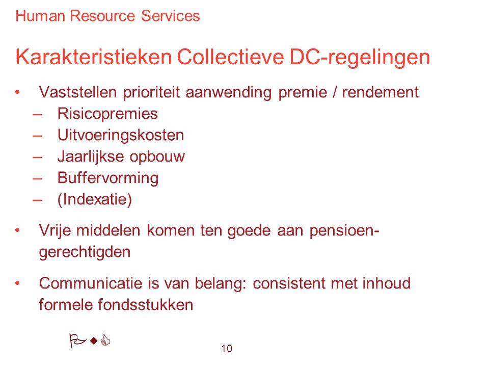 Karakteristieken Collectieve DC-regelingen