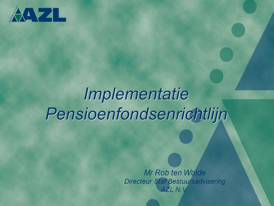 Implementatie Pensioenfondsenrichtlijn