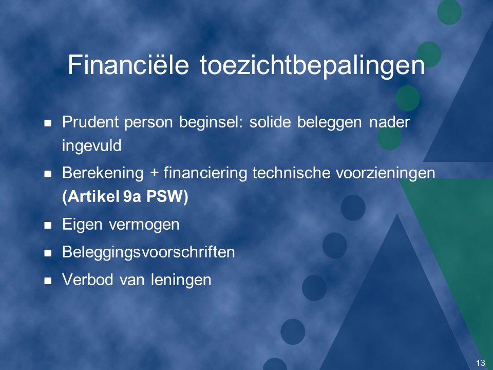 Financiële toezichtbepalingen