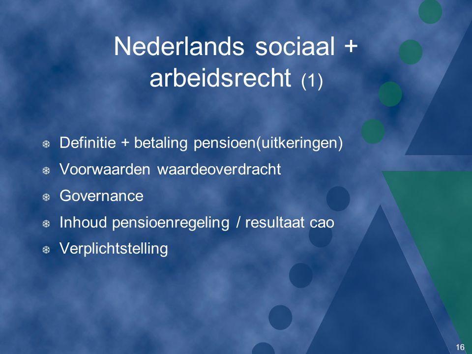 Nederlands sociaal + arbeidsrecht (1)
