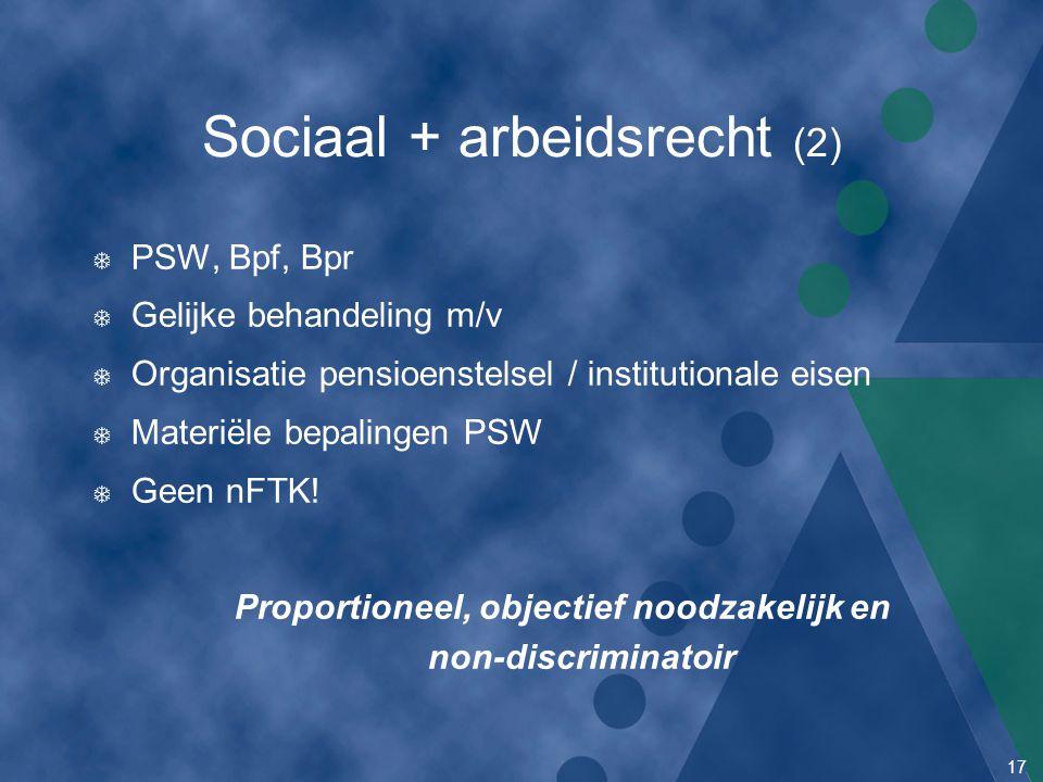 Sociaal + arbeidsrecht (2)
