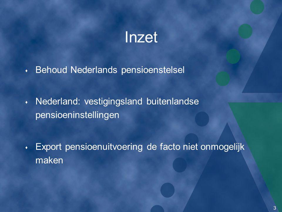 Inzet Behoud Nederlands pensioenstelsel