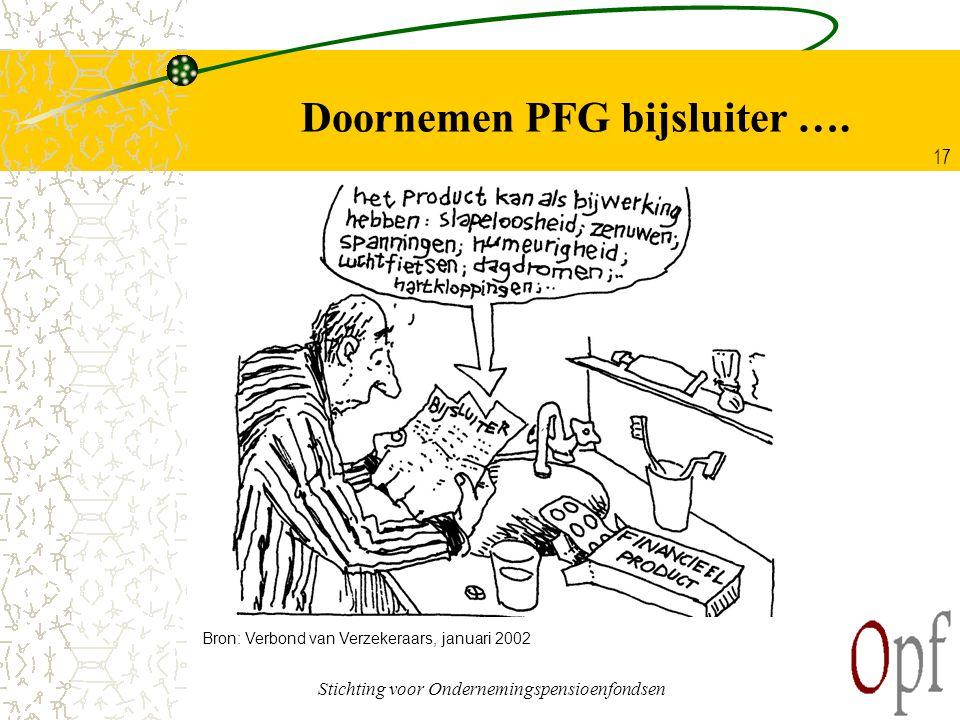 Doornemen PFG bijsluiter ….
