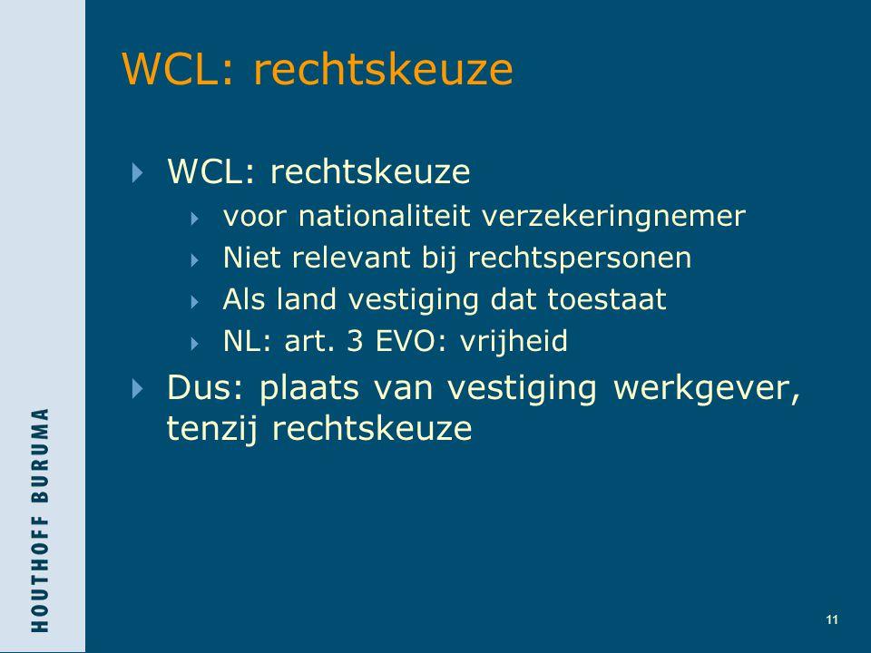 WCL: rechtskeuze WCL: rechtskeuze